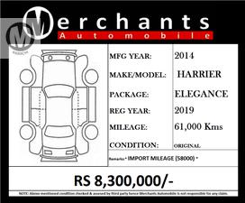 MODEL 2014 IMPORT 2018 REGISTER 2019  ELEGANCE PACKAGE  Extra work done  * Expansive Glass Coating * Sound Damping of all doors * Solar Tint of Moon Roof  Merchants Automobile Karachi Branch,  We Offer Cars With 100% Original Auction Report Based Cars With Money Back Guarantee.  Recommended Tips To Buy Japanese Vehicle:   1. Always Check Auction Report.  2. Verify Auction Report From Someone Else.  3. Ask For Japan Yard Pics If Possible.   MAY ALLAH CURSE LIARS..