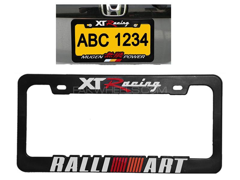 XT Racing Ralli Art Number Plate Frame  Image-1