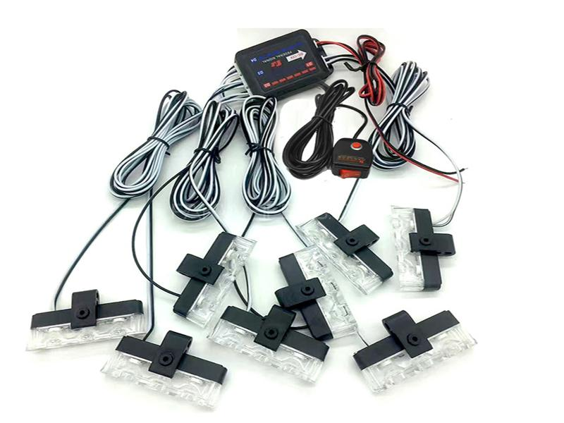 Button Control Grill Police LED Lights - JH-100-V48C Image-1