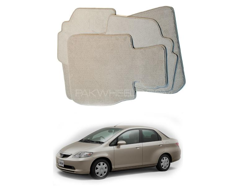 Kenco Carpet Floor Mats For Honda City 2002-2004 Beige Image-1