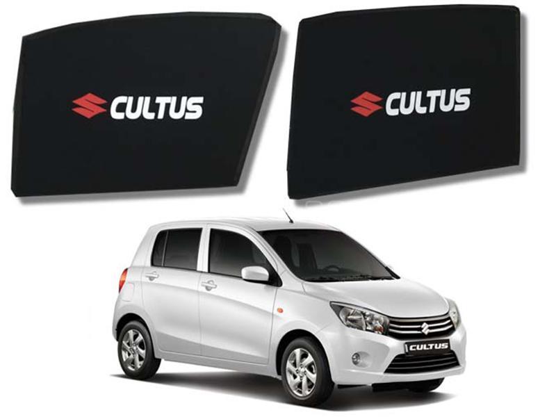 Foldable & Flexible Fix Shades With Logo For Suzuki Cultus 2017-2019 - 4 Pcs Image-1