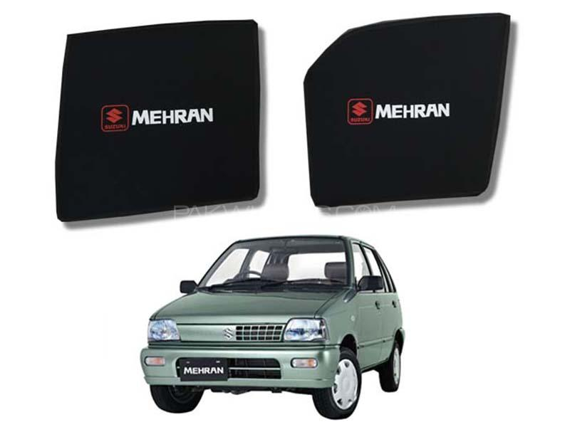 Foldable & Flexible Fix Shades With Logo For Suzuki Mehran 1988-2019 - 4 Pcs Image-1