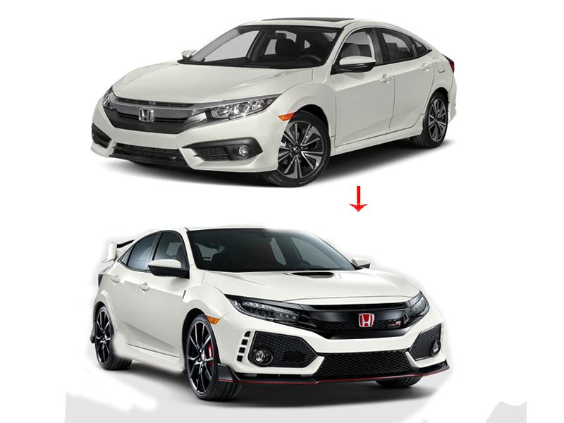 2016 Honda Civic Type R Price >> Honda Civic Type R Conversion Body Kit 2016 2019