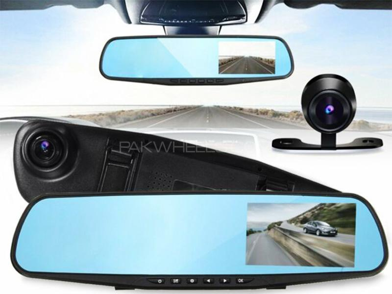 Universal Center Rear View Digital TFT Screen Display With Dual Cameras Image-1