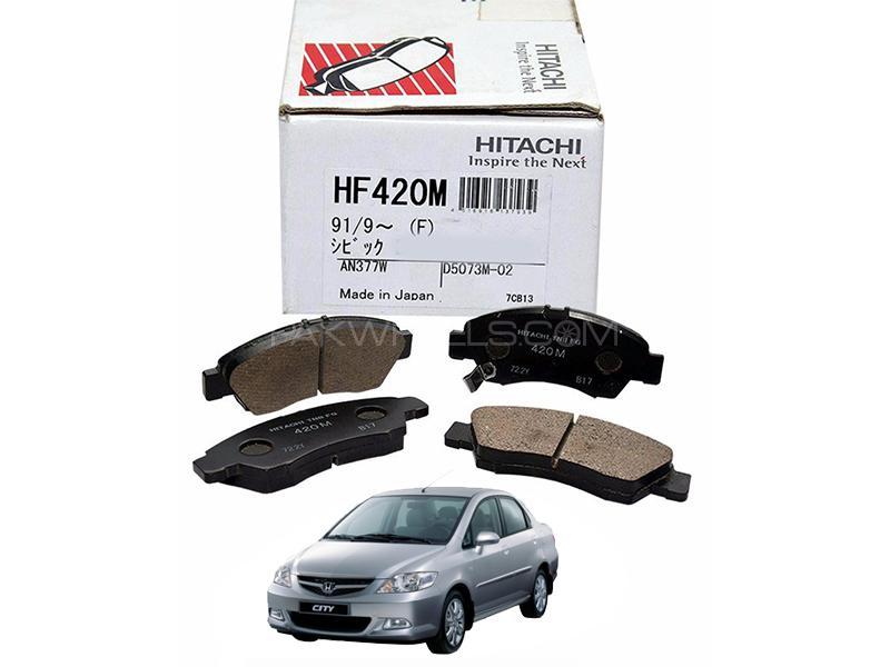 Hitachi Front Brake Pad For Honda City 2006-2008- HF420M Image-1