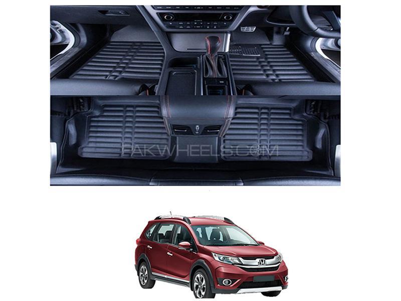 5D Floor Mat For Honda BRV 2017-2019 - Black  in Karachi