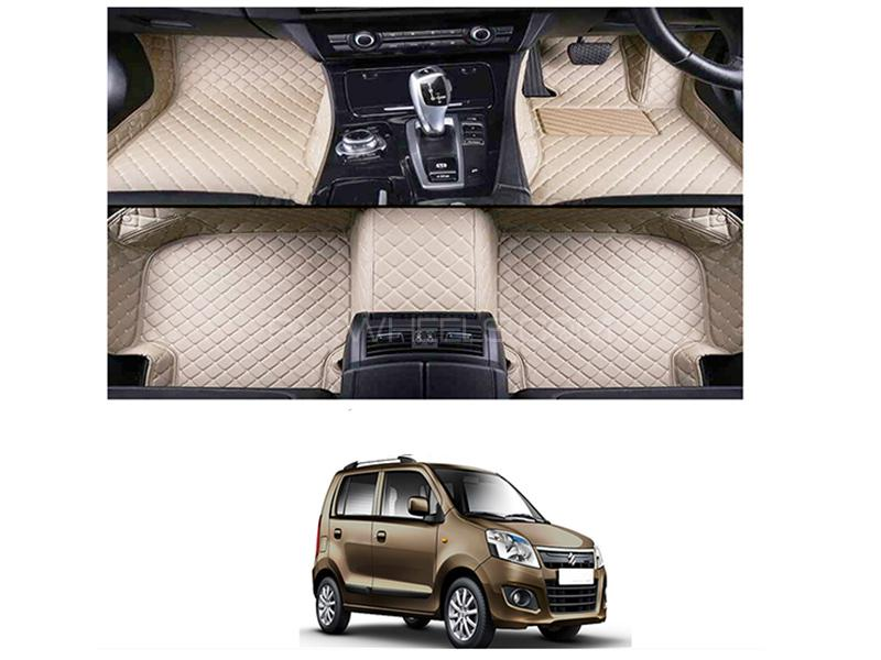 7D Floor Mat For Suzuki Wagon R 2014-2019 - Beige Image-1