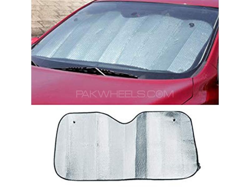 Universal Silver Front Wind Screen Sun Shade  Image-1