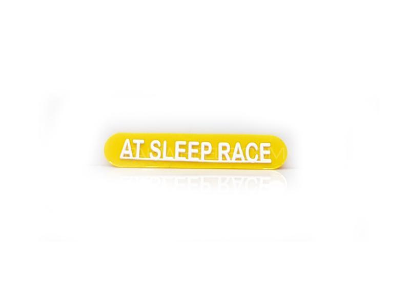 Sleep Race Plastic Pvc Emblem Image-1