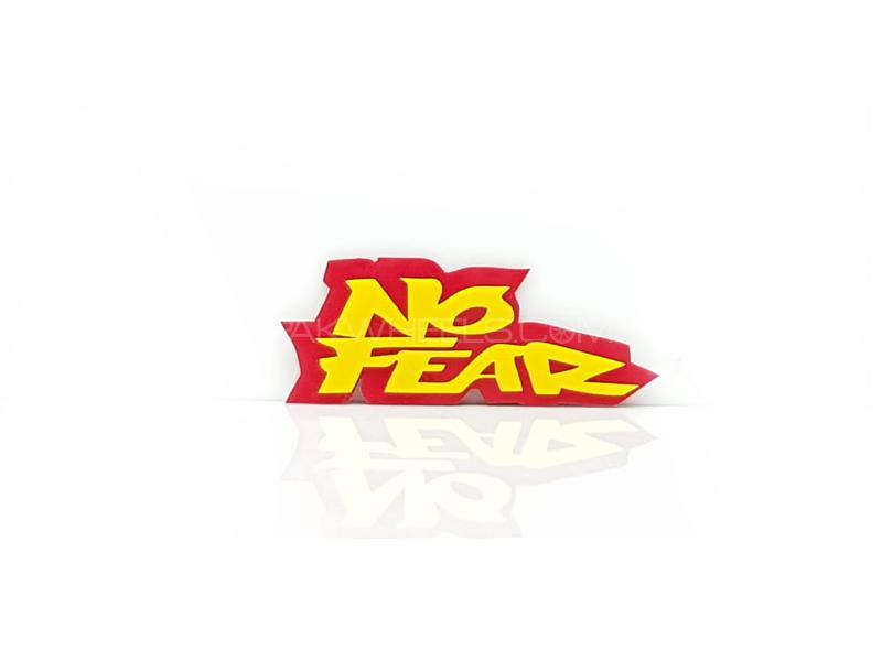 No Fear Plastic Pvc Emblem Image-1