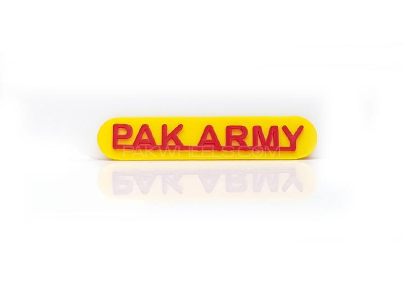 Pak Army Plastic Pvc Emblem Image-1