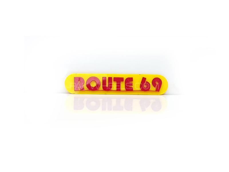 Route Plastic Pvc Emblem Image-1