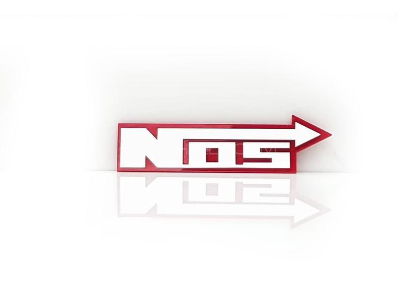 Nos Plastic Pvc Emblem Image-1