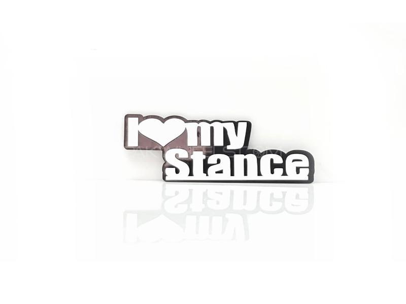 Love Stance Plastic Pvc Emblem Image-1