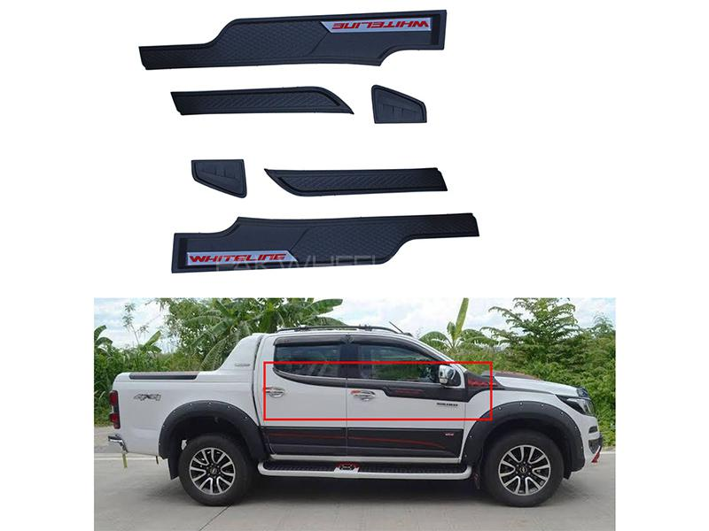 Window Mat Black Moulding For Isuzu D-Max 2018-2019 Image-1