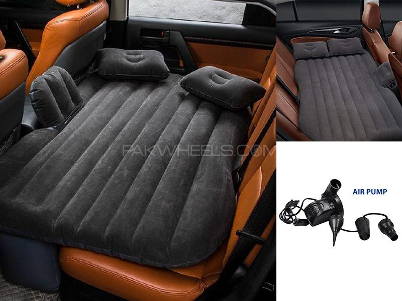 Universal Car Inflatable Mattress Bed - Black in Karachi