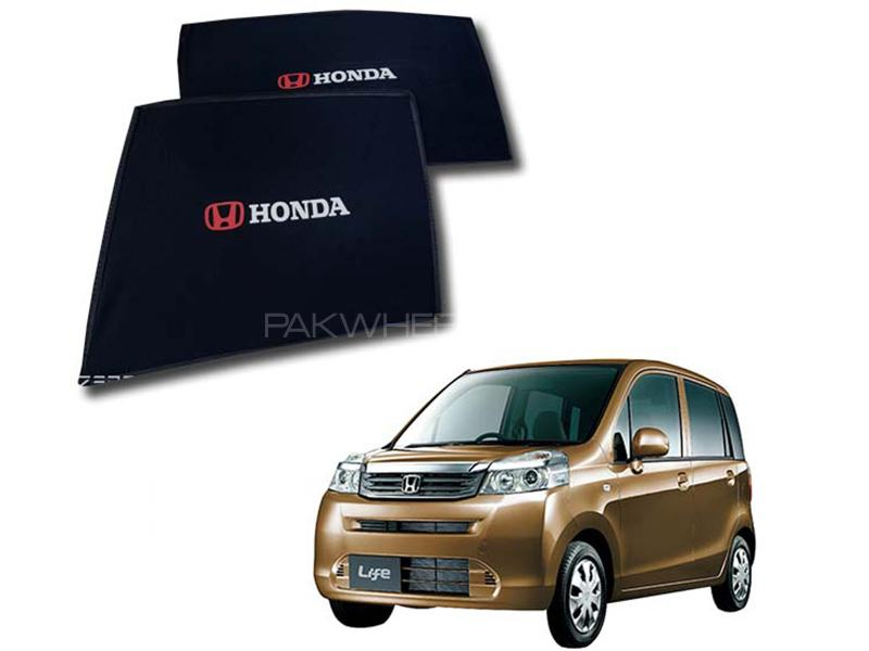 Foldable & Flexible Fix Shades With Logo For Honda Life 2008-2014 - 4 Pcs in Karachi