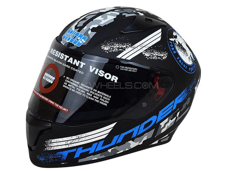 STUDDS Thunder Helmet - Black & Blue in Karachi
