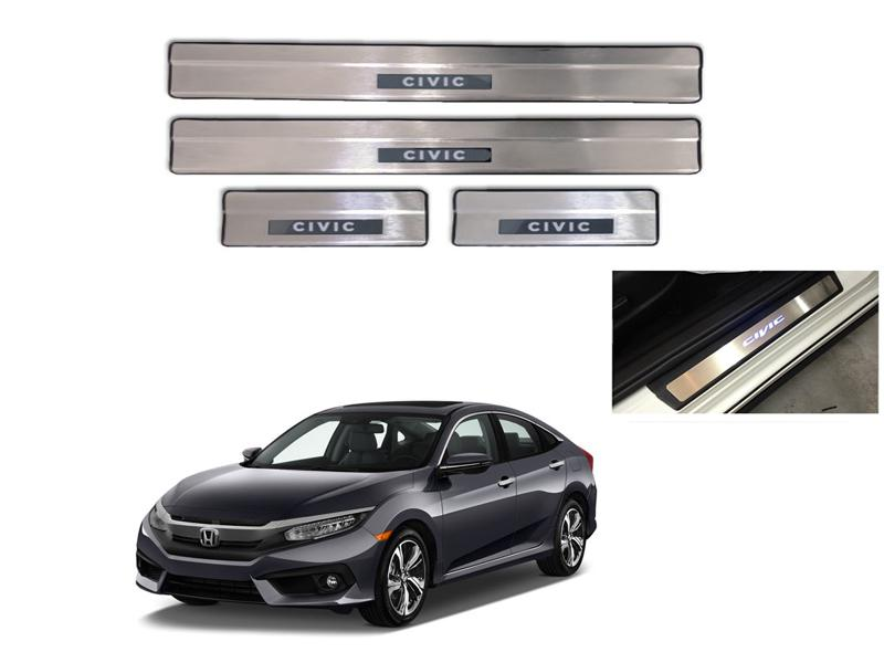 Honda Civic Door Sill Plates With Light - 2016-2019 Image-1