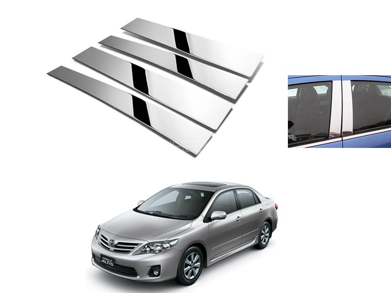 Toyota Corolla Door Pillar Chrome 4pcs 2009-2014 Image-1