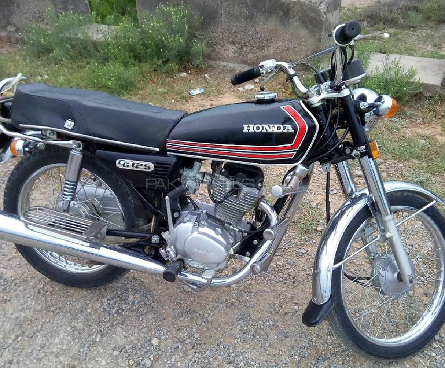 Honda CG 125 - 1983 black jewel Image-1