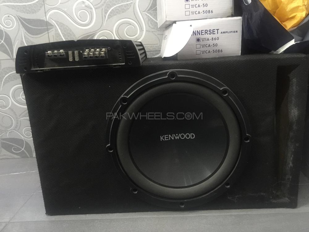 KENWOOD 1200 WATTS WOOFER AND ROCKMARS AMPLIFIER Image-1