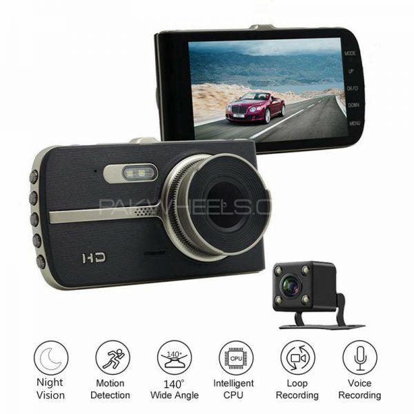 2 IN 1 ALL CAR DVR CAM H83 FRONT BACK AUDIO VIDEO Recorder CAMERA Image-1