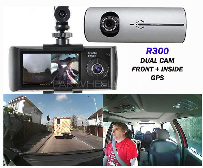 3 IN  1 CAR CAM R300 Dash Camera AUDIO VIDEO Front Inside and GPS NEW Image-1