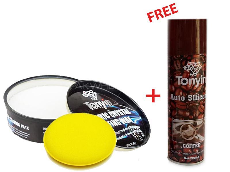 Tonyin Ceramic Crystal Coating Wax With Free Tonyin Dashboard Shiner Image-1
