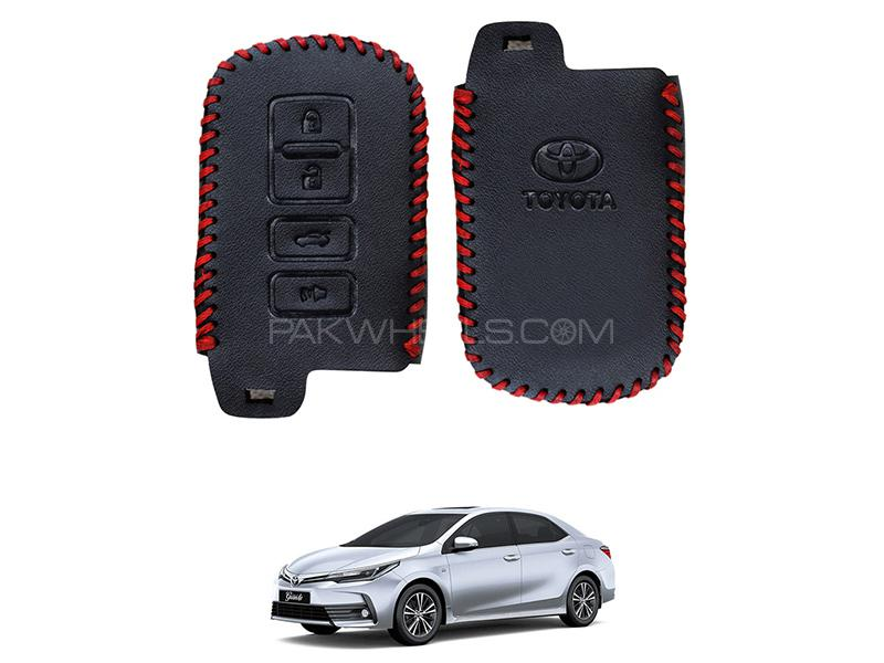 Toyota Corolla 2019 Grande Keyless Remote Leather Key Cover  in Karachi