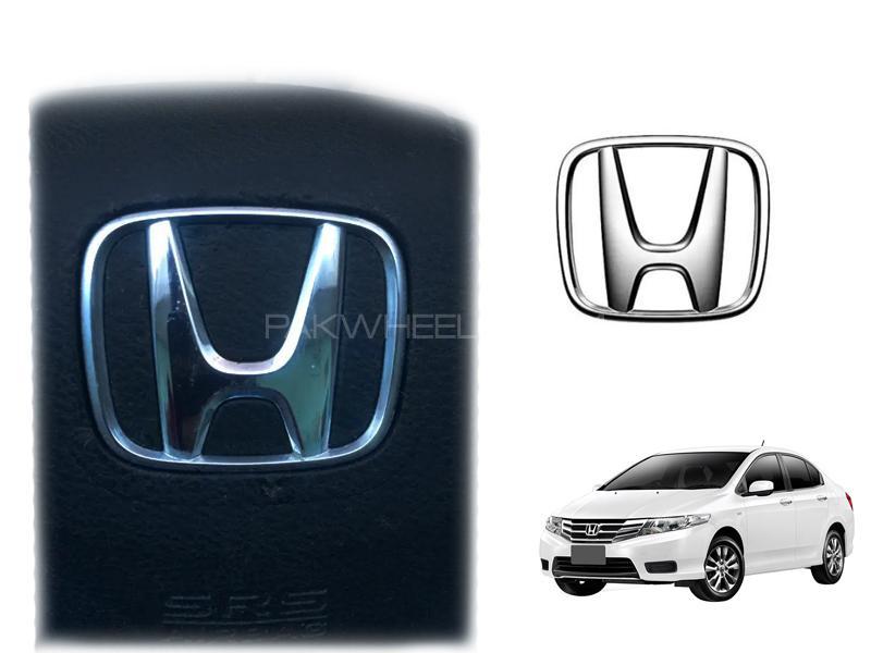 Honda City Steering Logo Emblem Chrome For 2009-2019 Image-1