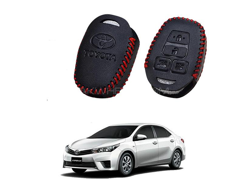 Toyota Corolla 2014-2017 Keyless Remote Leather Key Cover in Karachi