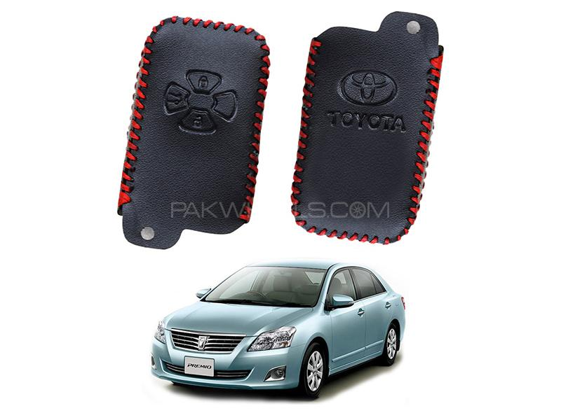 Toyota Premio 2015-2018 Keyless Remote Leather Key Cover Image-1