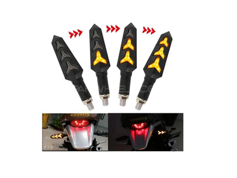 Aventador Style Bike LED Orange Indicators Set 4pcs Image-1
