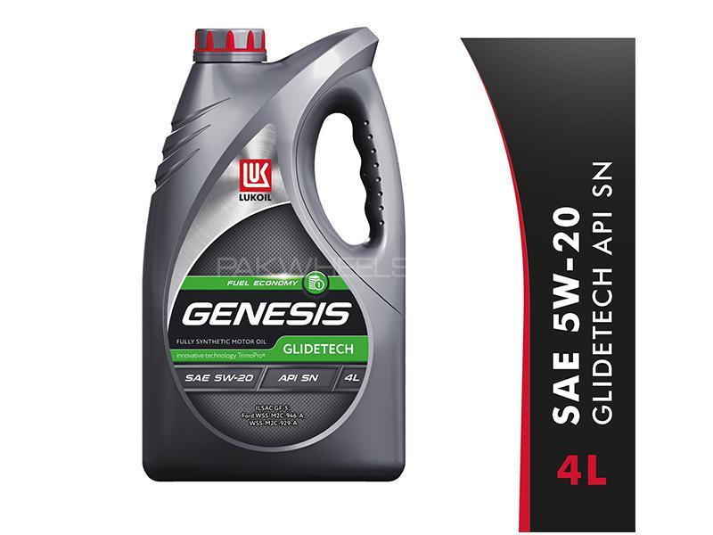 Lukoil Genesis Glidetech 5W-20, API SN Car Gasoline Petrol Engine Motor Oil Lubricant Synthetic 4L Image-1