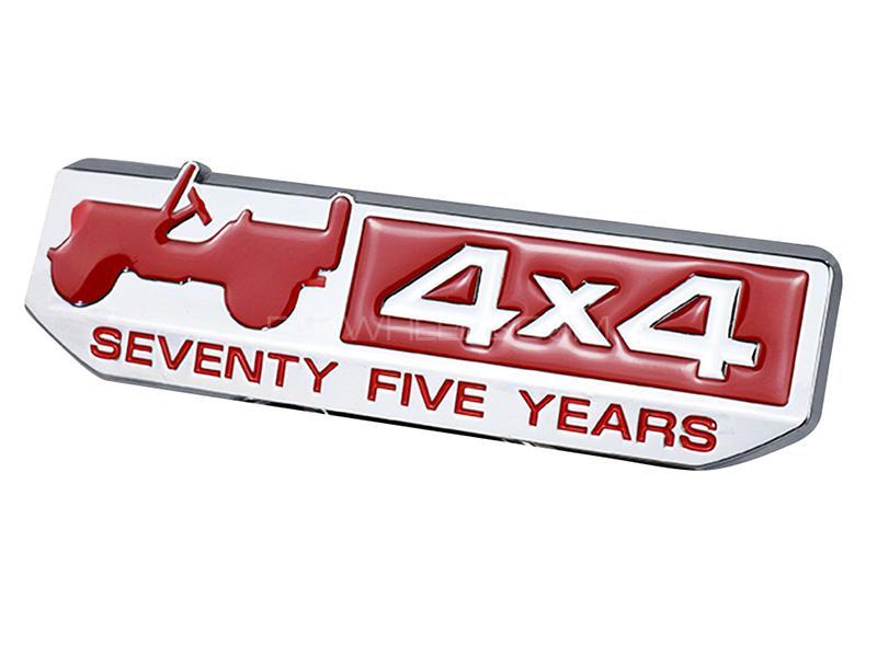4x4 Emblem Logo - Red Image-1