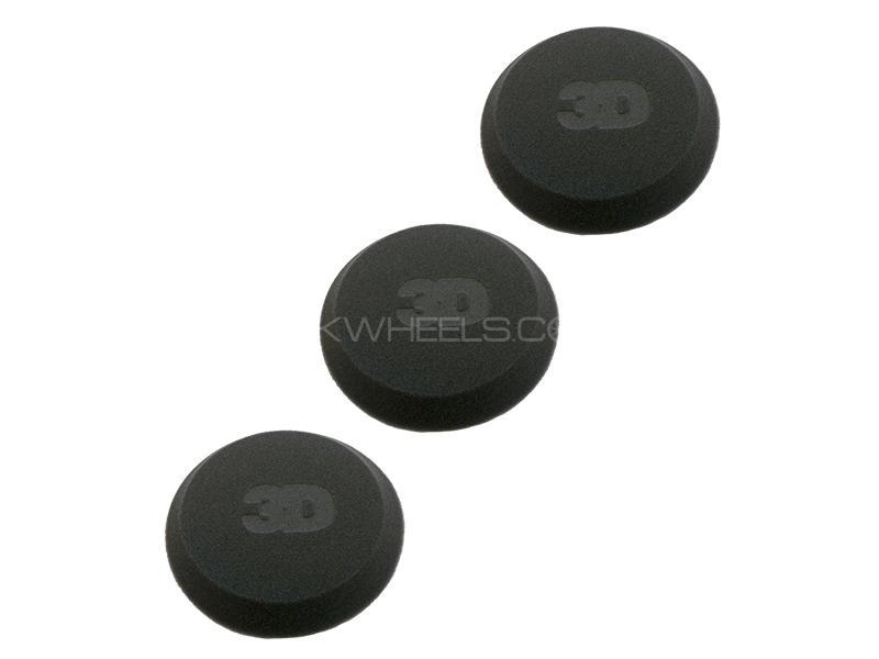 "3D Applicator Black Foam 4.5""x1"" Tapered Edge - 3 Pcs Image-1"
