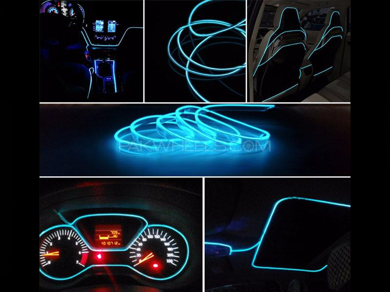 Neon Wire Glow For Interior Dashboard Ice Blue 2m Image-1