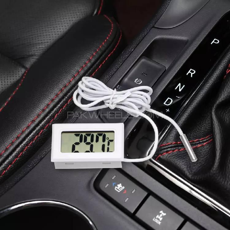 LCD Display Car Thermometer Temperature Gauge Meter Image-1