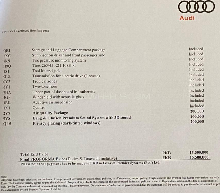Audi E-tron 50 Quattro 230 KW 2020 For Sale In Karachi