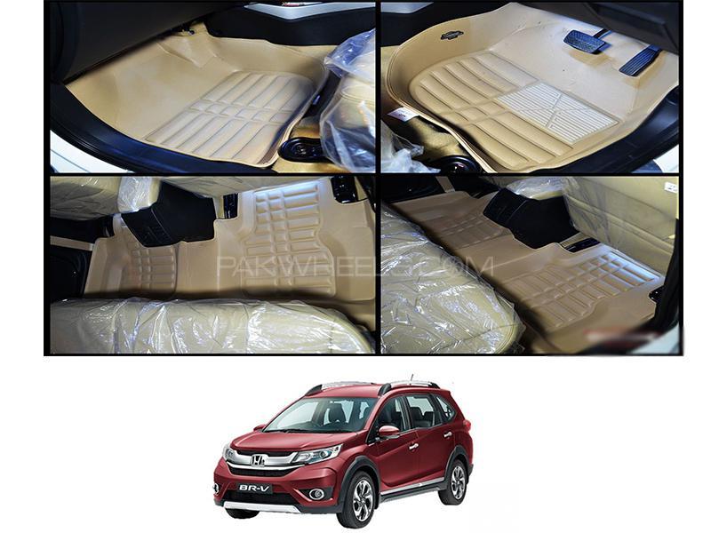 5D Floor Mat For Honda BRV 2017-2020 - Beige in Karachi