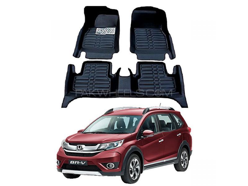 5D Floor Mat For Honda BRV 2017-2020 - Black Image-1