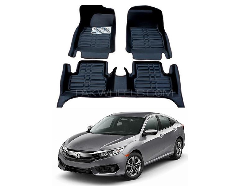 5D Floor Mat For Honda Civic 2016-2020 - Black in Karachi