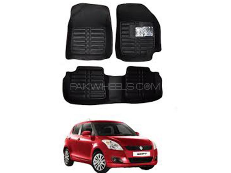 5D Floor Mat For Suzuki Swift 2006-2020 - Black in Karachi