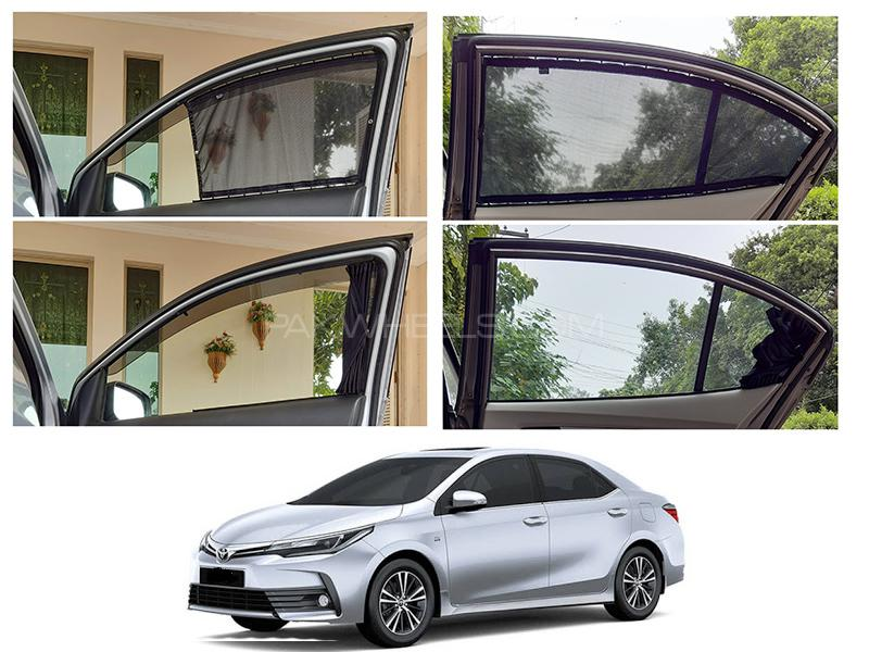 Awra Foldable Fitting Curtain Black Shades For Toyota corolla 2018-2020 in Lahore