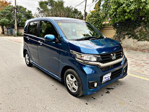 Honda N WGN Custom Model Year 2014 Import Year 2018 Un-Registered Royale Blue Color  Cruise Control Multimedia Push Start Alloys Wheels Led projection Headlamps  Led parking lamp And much more