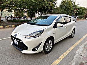Toyota Aqua G LED Model Year 2018 Import Year 2019 Pearl White Color  Latest Shape Push Start Multimedia Steering Wheel Adaptive Cruise Control  Radar with Distance Monitor Lane Departure Assist  Traction Control Led Projection Lamps  Alloy Wheels Only 4000 km driven