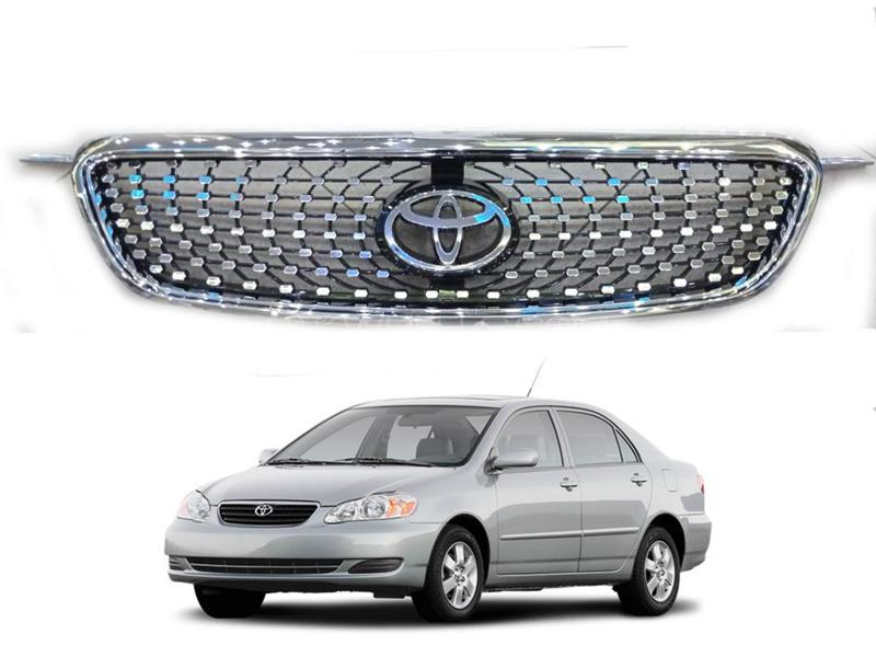 Toyota Corolla Front Grill Mesh Style 2002-2008 Image-1