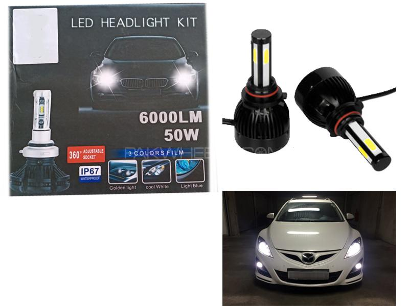 Led Headlight Kit 6000LM 50w - H4 Image-1