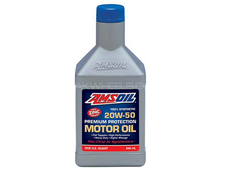 Amsoil 20w50 High Zinc Premium Protection Synthetic Motor Oil 946ml Image-1